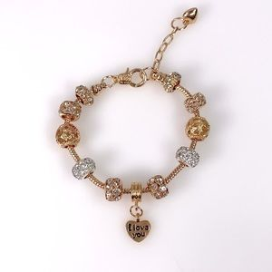 Swarovski Element Heart Charm Bracelet